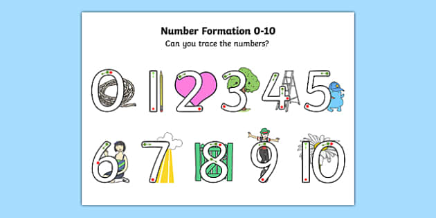 Number Formation 0 to 10 SEN Activity Sheet, worksheet