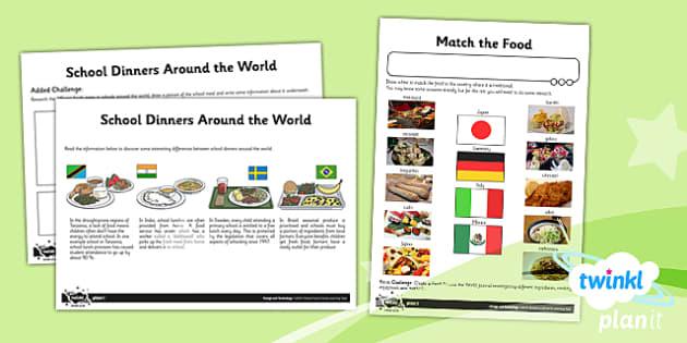 PlanIt - DT UKS2 - Global Food Unit Home Learning Tasks - planit