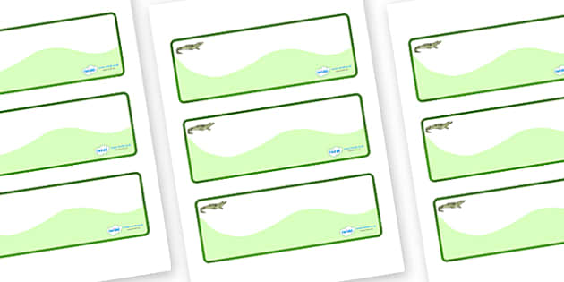 Crocodile Themed Editable Drawer-Peg-Name Labels (Colourful) - Themed Classroom Label Templates, Resource Labels, Name Labels, Editable Labels, Drawer Labels, Coat Peg Labels, Peg Label, KS1 Labels, Foundation Labels, Foundation Stage Labels, Teachin