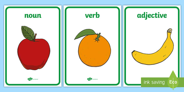 Fruit Salad Parts of Speech A4 Display Poster - Sight word games,Australia