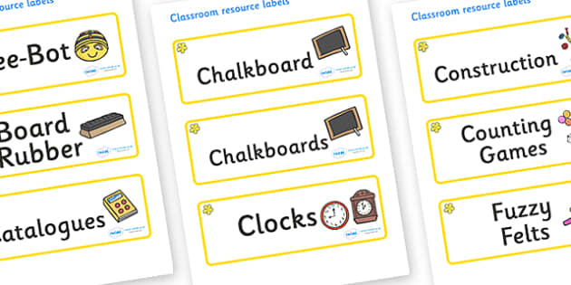 Buttercup Themed Editable Additional Classroom Resource Labels - Themed Label template, Resource Label, Name Labels, Editable Labels, Drawer Labels, KS1 Labels, Foundation Labels, Foundation Stage Labels, Teaching Labels, Resource Labels, Tray Labels