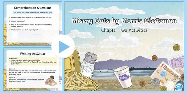 Chapter 2 Activities to Support Teaching on Misery Guts by Morris Gleitzman PowerPoint - Literacy, powerpoint, literature, australian curriculum, literature, novel study, misery guts by mor