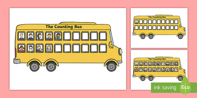 Bus Counting Activity - Maths, Math, bus, numbers 0-20, Counting, Numberline, Number line, Counting on, Counting back