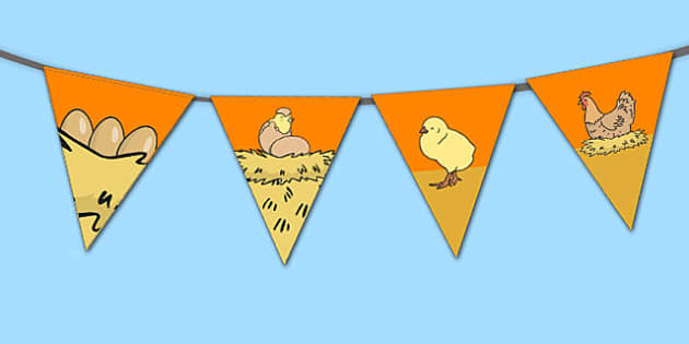 Chicken Life Cycle Bunting - australia, chicken, life cycle