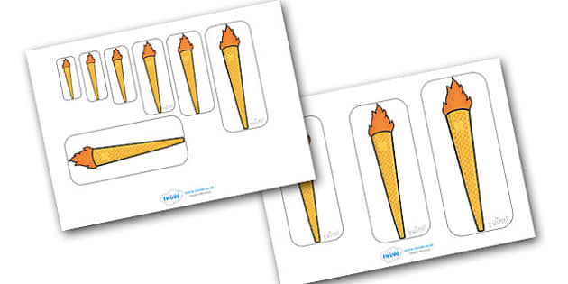 Olympic Torch Sizing Activity - Olympics, Olympic Games, sizing, sizes, different, size, torch, torches, sports, Olympic, London, images, editable, event, picture, 2012, activity, Olympic torch, medal, Olympic Rings, mascots, flame, compete, events,