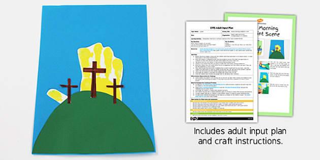 Easter Morning Handprint Craft EYFS Adult Input Plan And Craft Pack