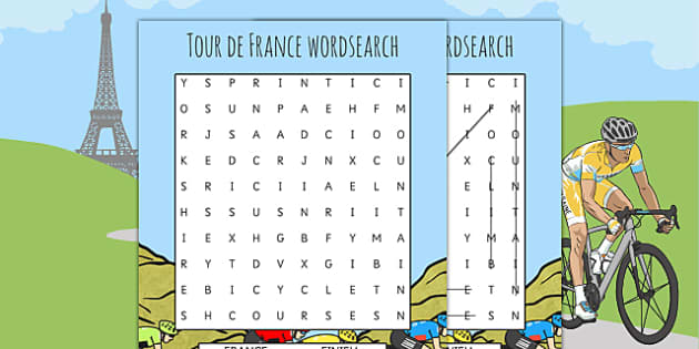 Tour de France Themed Differentiated Wordsearch - le tour, words