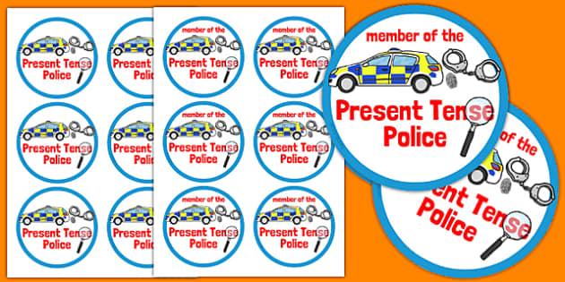Present Tense Police Badges - present tense, police badges, activity