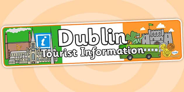 Dublin Tourist Information Role Play Banner-dublin, tourist information, role play, banner, role play banner, dublin role play, dublin banner