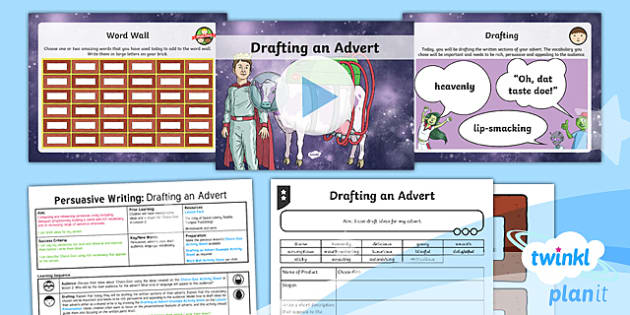 PlanIt Y3 Space: To Support Teaching on The King of Space Lesson Pack (3) - The King of Space, adverts, audience, persuasion,  space, Year 3, Y3, English, non-fiction, Johnny D