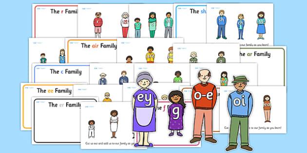 Sound Families Cut Out Pack - sounds, sound family, cutouts