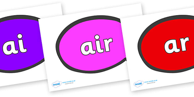 Phase 3 Phonemes on Speech Bubble - Phonemes, phoneme, Phase 3, Phase three, Foundation, Literacy, Letters and Sounds, DfES, display