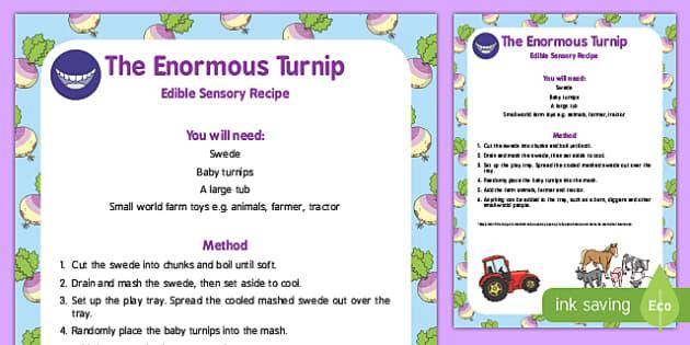 The Enormous Turnip Edible Sensory Recipe