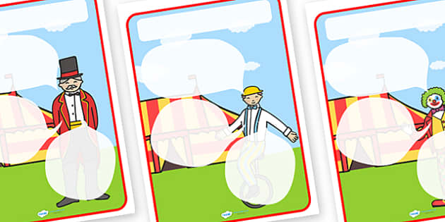 Circus Themed Target Posters Speech Bubbles - circus, circus themed, target posters, targets, class targets, themed targets, class management, posters