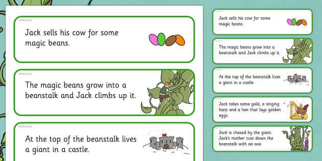 Jack and the Beanstalk Story Sequencing Cut and Stick Activity - jack and the beanstalk, story sequencing, sequencing, cut and stick, cut, stick, stories