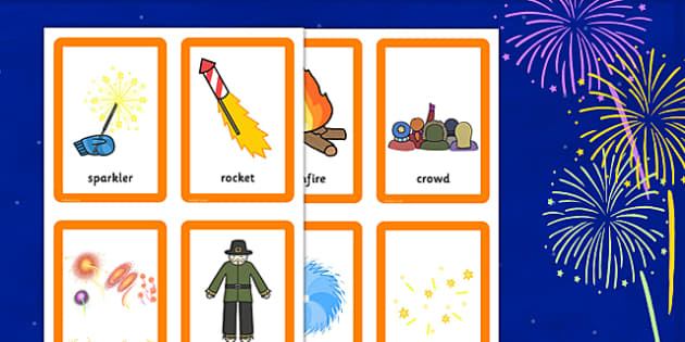 Bonfire Night Pairs Matching Game - match, games, activities