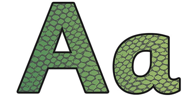 Snake Pattern Display Lettering (Small) - safari, safari lettering, safari display lettering, snake lettering, snake pattern lettering, snake