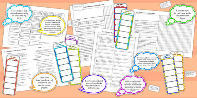 2014 Curriculum KS1 English Assessment Pack - targets, literacy