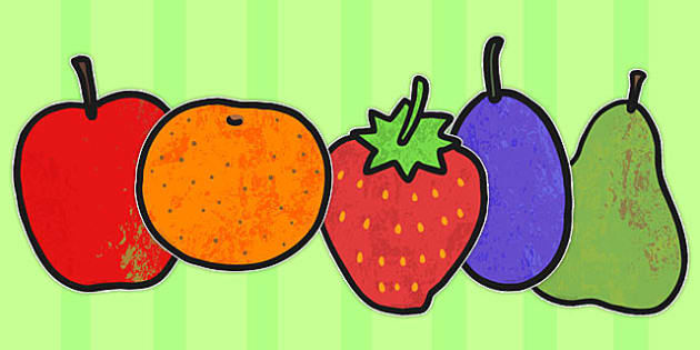 A4 Fruit Cut Outs to Support Teaching on The Very Hungry Caterpillar - australia, caterpillar