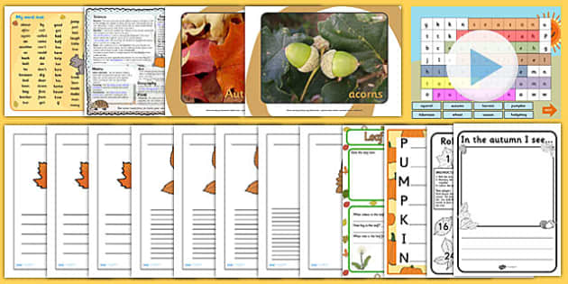 KS1 Autumn Teaching Resource Pack - ks1, autumn, pack, resources