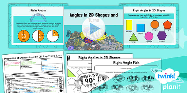 PlanIt Y3 Properties of Shape Lesson Pack Angles in Shapes and Turns - Properties of Shapes, angles, angles in shapes, angles in turns, 90 degree turns
