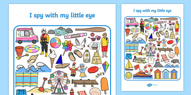 Seaside I Spy With My Little Eye Activity - seaside, I spy, activity