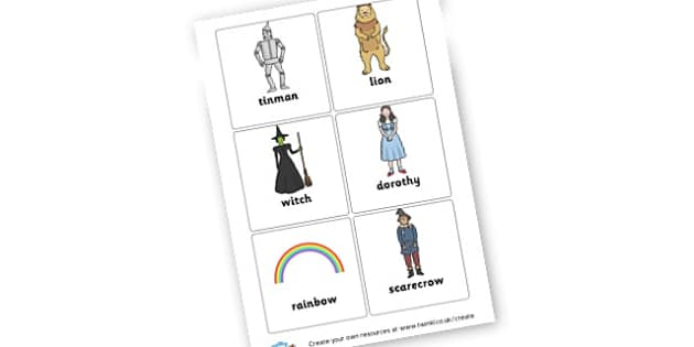 Wizard of Oz word cards - The Wizard of Oz Primary Resources, Dorothy, Yellow Brick Road