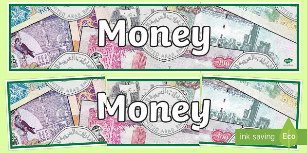 UAE Money Display Banner