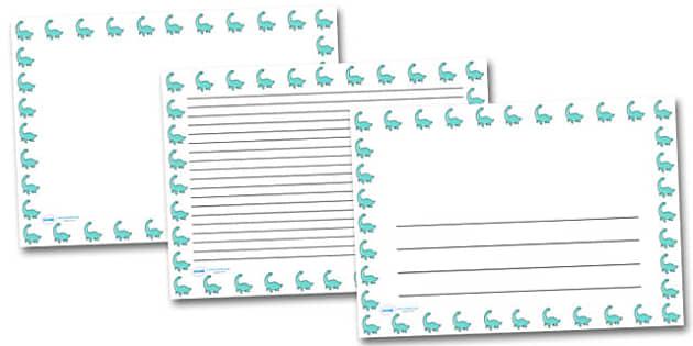 Cute Pleseosaur Landscape Page Borders- Landscape Page Borders - Page border, border, writing template, writing aid, writing frame, a4 border, template, templates, landscape