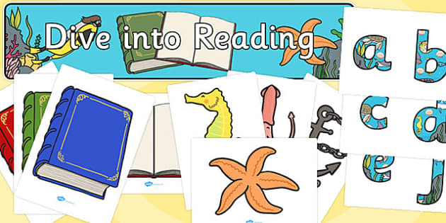 Dive into Reading Display Pack - dive, reading, display pack, display