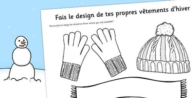 Fais le design de tes propres vêtements d'hiver French - french, design, own, winter, clothes, clothing, seasons