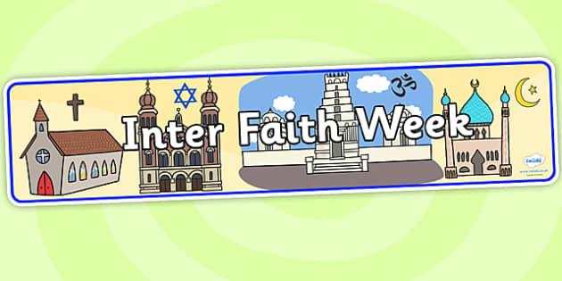 Inter Faith Week Display Banner - inter faith week, display banner, banner,  banner for display, display header, header for display, header, display images