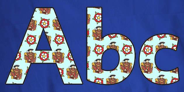 Henry VIII Themed Display Lettering-henry VIII, themed, display lettering, lettering for display, display, lettering, themed lettering, history, display