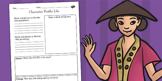 The Firework Maker's Daughter Lila Character Profile Worksheet