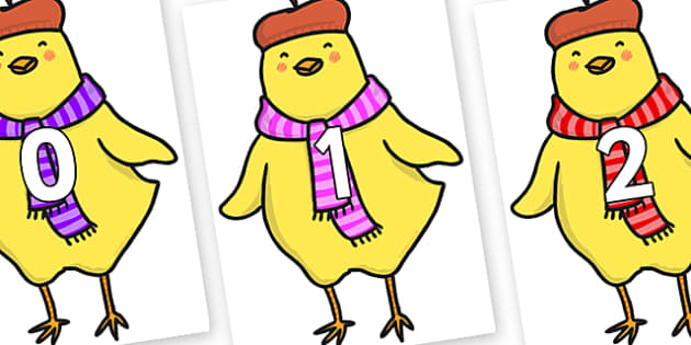 Numbers 0-31 on Chicken Licken - 0-31, foundation stage numeracy, Number recognition, Number flashcards, counting, number frieze, Display numbers, number posters