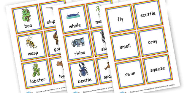 Match Animal to Action Game - Animals Activities and Games Primary Resources,  Activities, Games