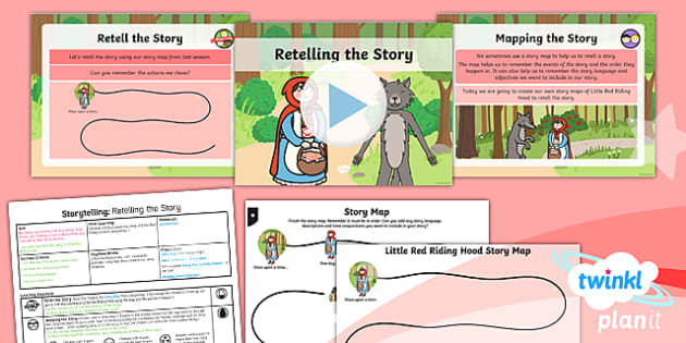 PlanIt Y1 Traditional Tales: Little Red Riding Hood Lesson Pack Storytelling (3)