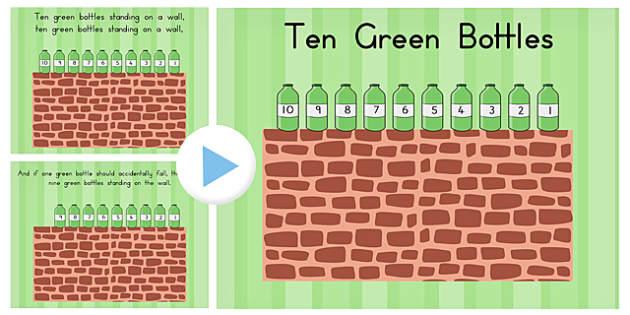 Ten Green Bottle Story PowerPoint - australia, story, powerpoint