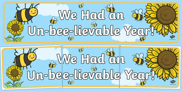 End of Year Bee Display Banner-Australia