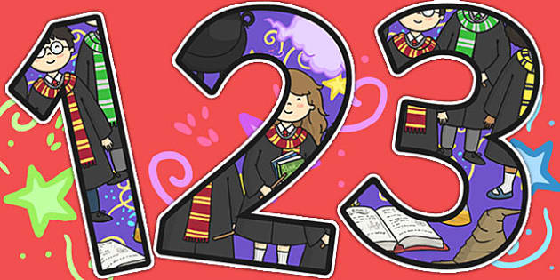 Wizard School Themed Display Numbers - number, displays, wizards