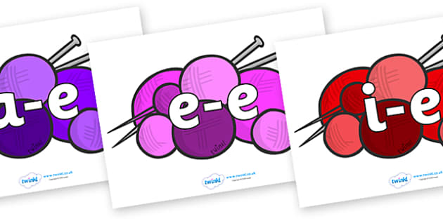 Modifying E Letters on Balls of Wool - Modifying E, letters, modify, Phase 5, Phase five, alternative spellings for phonemes, DfES letters and Sounds