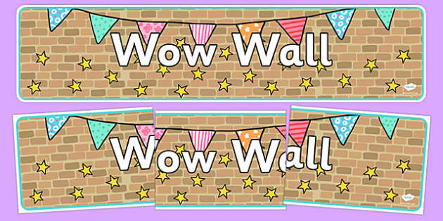 Wow Wall Display Banner - wow wall, display banner, banner, display, banner for display, display header, header for display, display header, class display