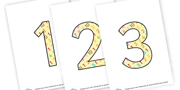 maths 1-10 - display lettering - Maths Area Primary Resources, maths is fun, signs, labels, areas