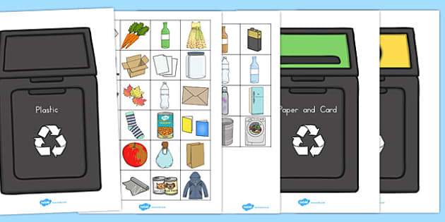 Recycling Sorting Activity -recycling, activities, sorting, sort