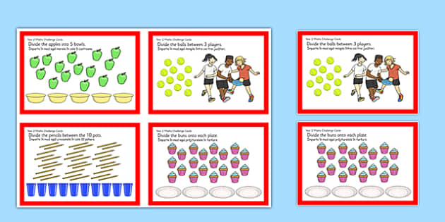 Year 2 Division Challenge Cards Romanian Translation - romanian, year 2, division, challenge cards, challenge, cards, divide