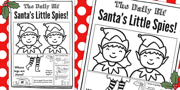 The Daily Elf Newspaper Writing Template - christmas, festivities, news