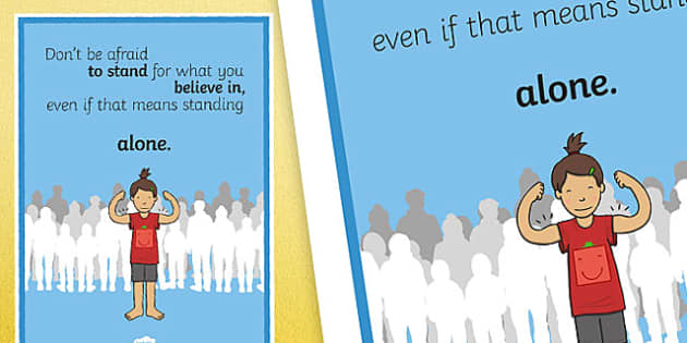 Don't Be Afraid To Stand For What You Believe Motivation Poster