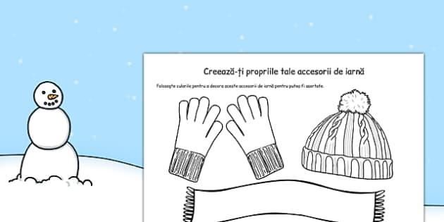 Creeaza-ti propriile tale accesorii de iarna, Fisa - iarna arte