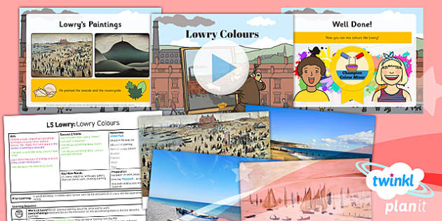 PlanIt - Art KS1 - LS Lowry Lesson 2: Lowry Colours Lesson Pack
