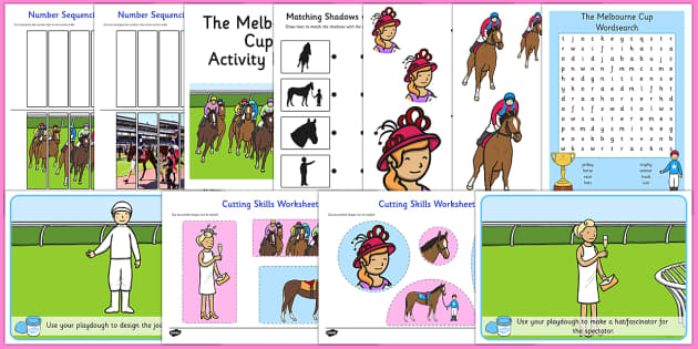The Melbourne Cup Activity Pack - australia, melbourne cup, activity, pack